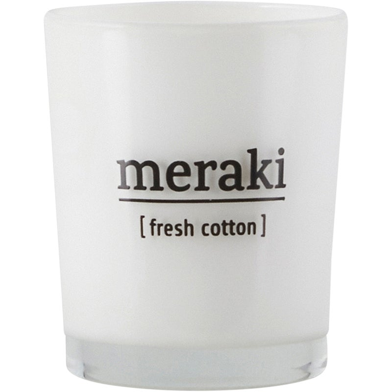 Meraki Fresh Cotton Scented Candle
