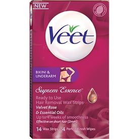 Veet Supreme Essence Wax Strips Bikini & Under Arm